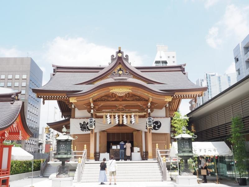 東京都中央区日本橋 水天宮 お宮参り 七五三 出張撮影